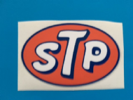 STP OIL sticker/decal x2